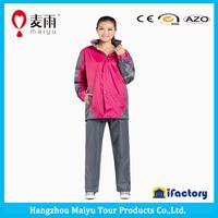 Maiyu adult foldable waterproof rain jacket raincoat