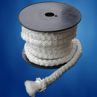 Glass fiber knitting lagging heat insualtion rope for wood stove sealing