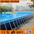 portátil al aire libre de pvc marco rectangular por encima del suelo de la piscina de natación