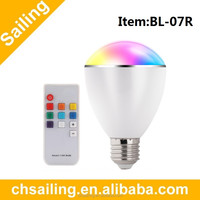Multi color led light with remote controller,Color Change Bulb