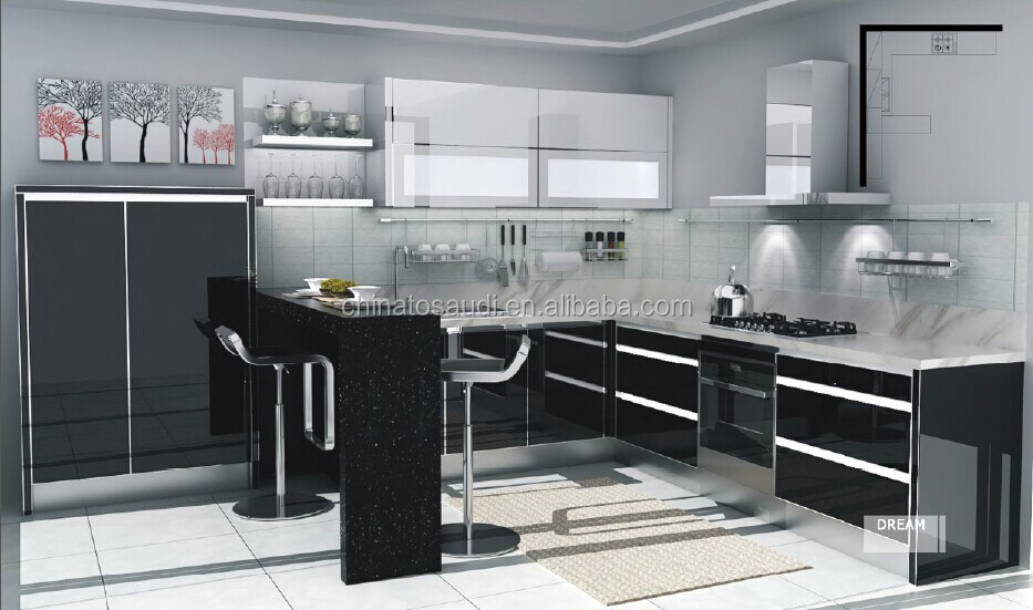 Large Kitchen Cabinets Design Custom Material Kitchen Cabinet Set