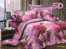 New style orchid design Duvet Cover fashion morden printing polyester wholesale comforter sets bedding