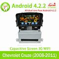El precio de fábrica para android puro 4. 2. chevrolet cruze coches reproductor de dvd con dvd/bluetooth/radio/tv/gps/3g/wifi/an