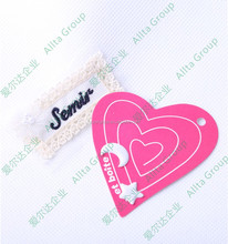 Wholesale clothing fashionable swing tags/ labels for kids