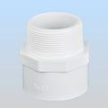 el suministro de agua de plástico de pvc montaje blanco macho adaptador