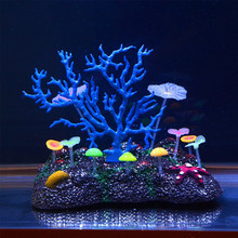 Glowing Effect Artificial Coral for Fish Tank Decorative Aquarium Ornament