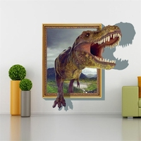 Wholesale 3D Home Decor Dinosaur & Frame Removable Wall Stickers