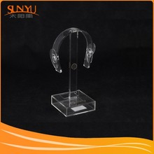 Customized Clear Acrylic Music Stand For Earphone Display