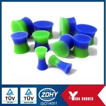 Factory customized blue silicone rubber plug, rubber bung used for dust and heat proof