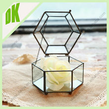 Alibaba 2015 hot*** Every woman will feel very special to have this small treasury keeper *** Geometric Glass custom jewelry box