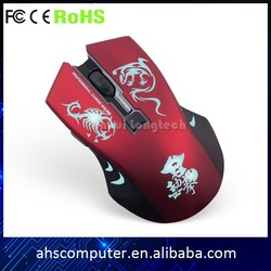 USB 2.4G wireless optical gaming mouse with 7color breathable LED light