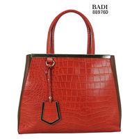 2013 newest design crocodile skin pu leather elegance ladies casual tote handbags women messenger bags shopping handbags