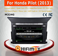 HIFIMAX S160 special car gps navigation system for Honda Pilot 2013 dashboard auto radio dvd gps with pilot car accessories