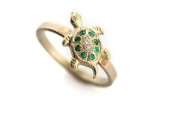 Fashion jewelry ZINC ALLOY low cost gold turtle engagement ring