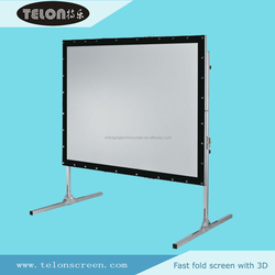 Rear + front material Fast fold projection screen