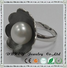 Round flower pearl 925 Sterling Silver rings C Z stone can download price list