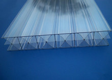 Raw material X type triple wall /polycarbonate hollow sheet/transparent roofing sheet