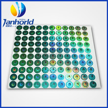 UV 3D Security Label Custom Printing Small Laser Hologram Sticker