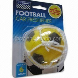 2015 yellow and black color football freshener