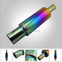 Exhaust titanium color muffler for car