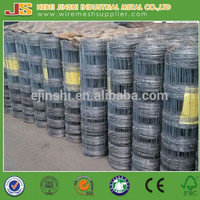 Hot dipped galvanized Fixed Knot knitted wire mesh field fence