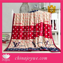 2015 New Products China Manufacturer Best Selling Flannel Blanket With Famous Brand