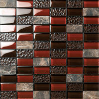 Foshan mosaic building material crystal mix tiles designs