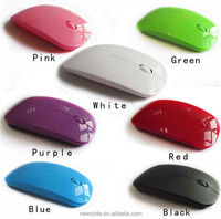 China hotsale 2.4ghz ultra thin colorful drivers wireless optical mouse christmas gift mouse 7 candy color