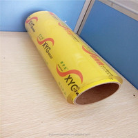 transparency transparent PVC food wrap film in plastic rolls