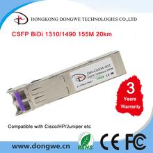 CSFP Module, 155M Compact Bi-Di SFP Transceiver, 20km Reach, 1310nm TX 1490 nm RX