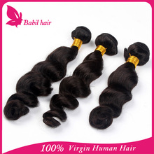 full cuticle&no shedding&no tangle natural color eurasian loose wave human sticker hair extensions weaving