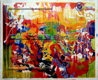 Handpainted Abstract Art Colourful Painting