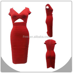 red made in china wholesale sexy photos nude girls bandage dresses 2015