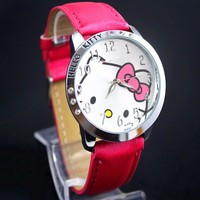 YX7040 Wholesale Price Hello Kitty Quartz Wrist Watch