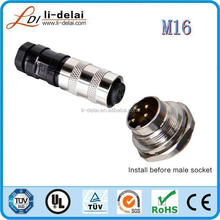 Waterproof connector with IP67 M16 thread 7 pins male Ass'y type connector