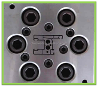 Plastic extrusion tooling mould for sliding series window and door profiles