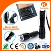 Micro USB Rechargeable Led Flashlight Torch