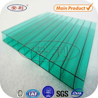 UV colored planchas de policarbonato