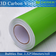 Hot sell auto body green carbon fiber for wrapping whole car