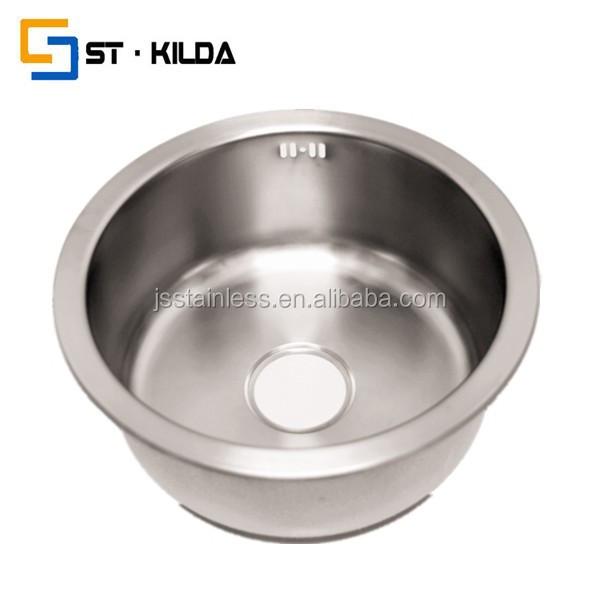 Stainless Steel Round Sink/inox Sink/rustic Pedestal Sinks 44191 - Buy ...