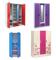 New style cheap steel wardrobe / bedroom steel almirah designs