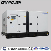 ISO certified best seller ON SALE soundproof 175kva 230v power backup generator with stamford alternator