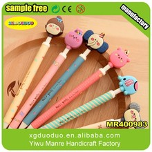 Fashion soft rubber PVC pencil topper,best quality cartoon pencil topper manufacturer