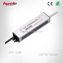 LPV-12W LED converter waterproof power supply unit ac to dc 12v with CE ROHS KC approved