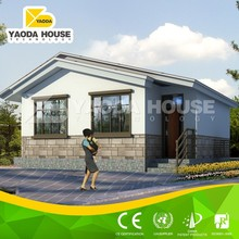 2015 Fashional designed steel structure flat roof prefab villa house