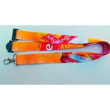 neckband heat transfer lanyard with pu leather ID card holder