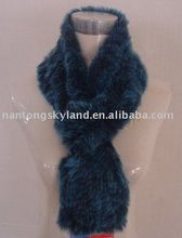 character ladies real blue rabbit fur scarf