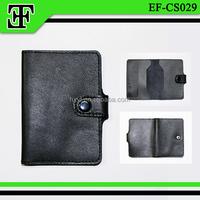 Wholesale fashion genuine leather new arrival men's credit card holder case