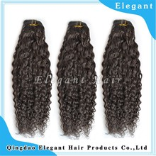 2015 new products ali express wholesale grade 6A wavy 100% human hair extensions curl wavy