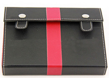 High quality genuine leather poker case holder for playing cards